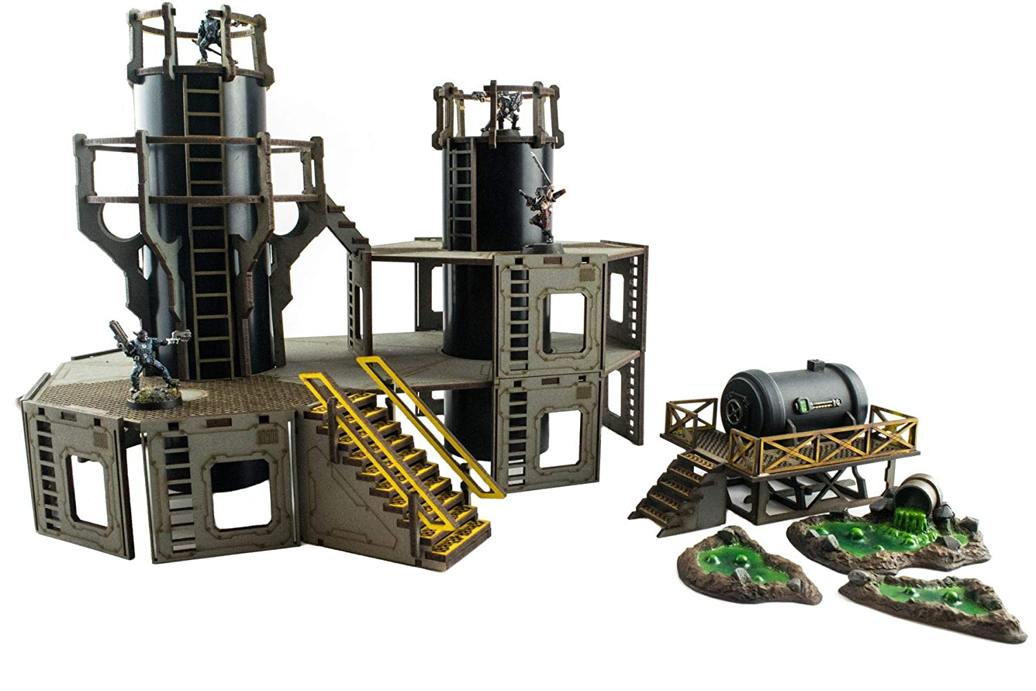War World Gaming Industry of War Pre-Painted Refinery 1 28mm Sci-Fi