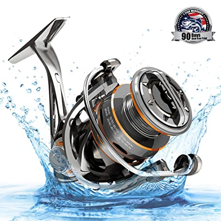 Cadence CS8 CS10 Spinning Reel, Ultralight Fast Speed Premium Magnesium Frame Fishing Reel with 11 Low Torque Bearings Super Smooth Powerful Fishing Reel with 36 LBs Max Drag 6.2 1 Spinning Reel