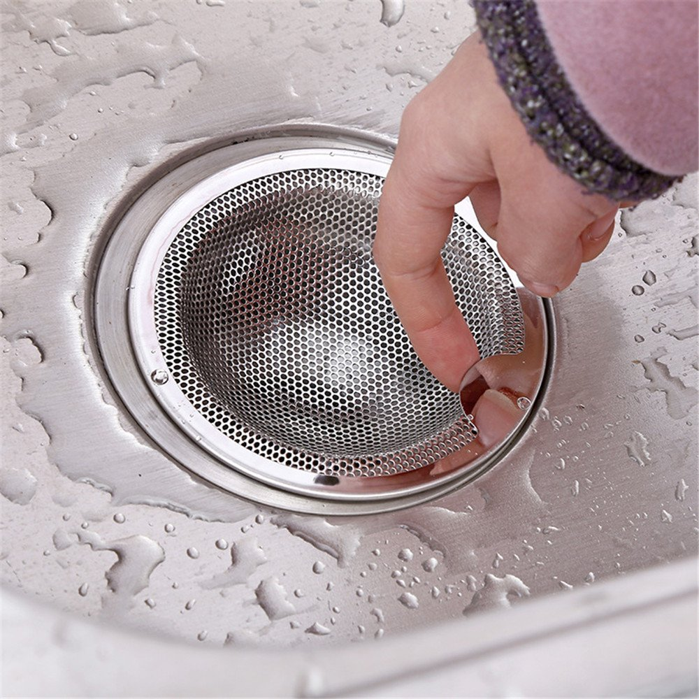 Stainless Steel XNBZW Good Grips Easy Clean Shower Stall Drain Protector Medium 7.5cm, Silver