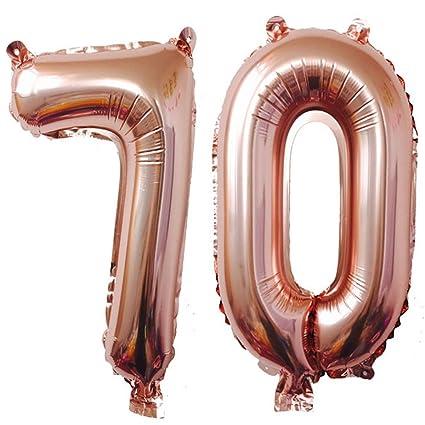 Amazon 40inch Rose Foil 70 Helium Jumbo Digital Number Balloons
