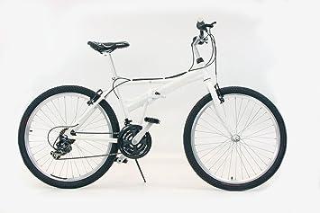 """Mifa - Bicicleta plegable de aluminio, 26"""", 21 velocidades, cambio Shimano,"""