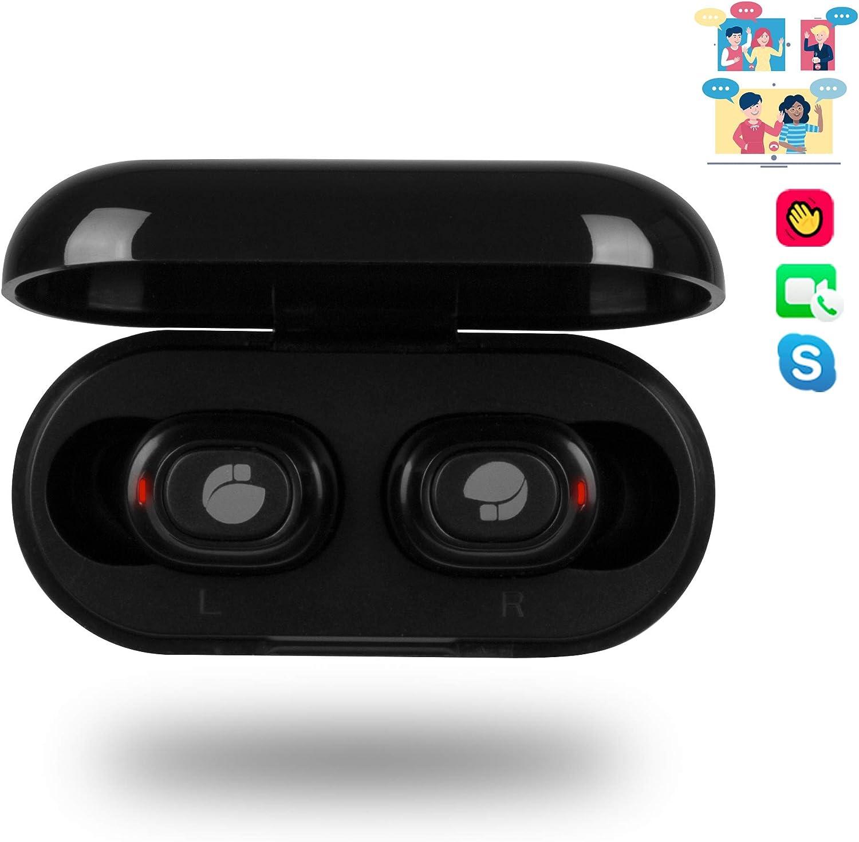 NGS Artica Lodge - Auriculares inalámbricos Compatibles con Tecnología Bluetooth 5.0, Tecnología True Wireless. Color Negro