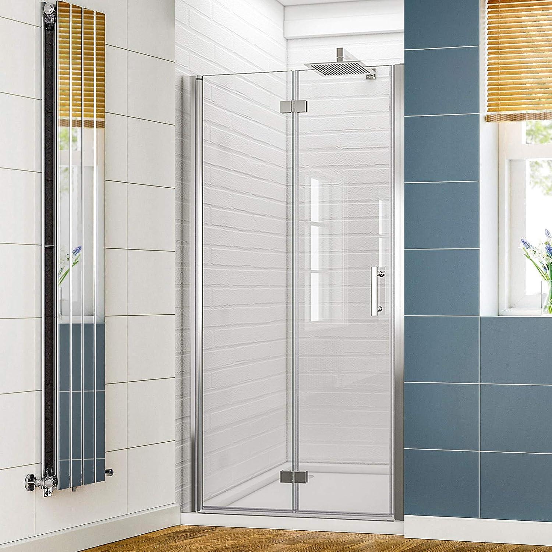 SUNNY SHOWER - Puerta de ducha plegable con bisagras, sin marco ...