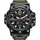 Fomtty Orologio da uomo analogico e digitale, orologio sportivo, impermeabile orologio LED con cronometro (verde militare)