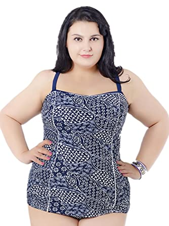 97f81f9accd8e Hanglin Trade Plus Size Swimwear Dress Swimming Suit for Women One Piece  Swimsuit 2017 Summer Beach Wear Bathing Suits at Amazon Women s Clothing  store