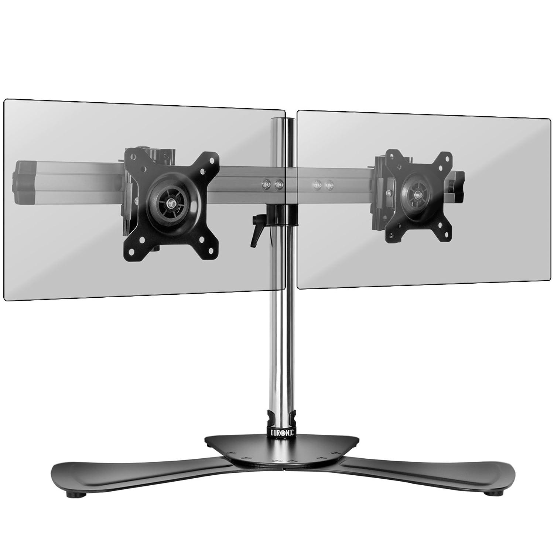 """Duronic DM751 Supporto da scrivania monitor 15"""" – 24"""" staffa supporto monitor/schermo con base in metallo battuto VESA MAX 100 x 100mm struttura in alluminio portata 8kg"""