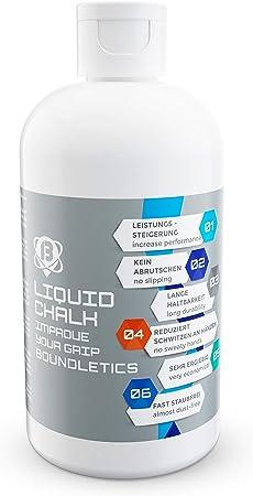 Tiza Líquida - La mejor tiza líquida para un mejor grip al alzar pesas, escalar, pole dance, gimnasio y fitness - Mejora tu agarre y reduce la ...