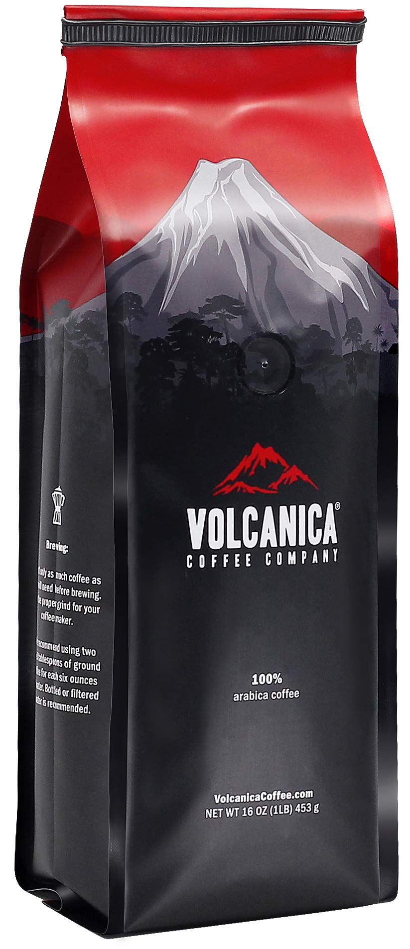 Jamaican Blue Mountain Coffee, 100% Pure, Whole Bean, Fresh Roasted, 16-ounce by Volcanica Coffee