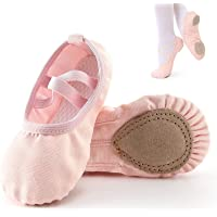 Ballet Slippers,Stretch Canvas Dance Ballet Shoes Slippers Flats Pumps for Girls Toddlers Kids (26)