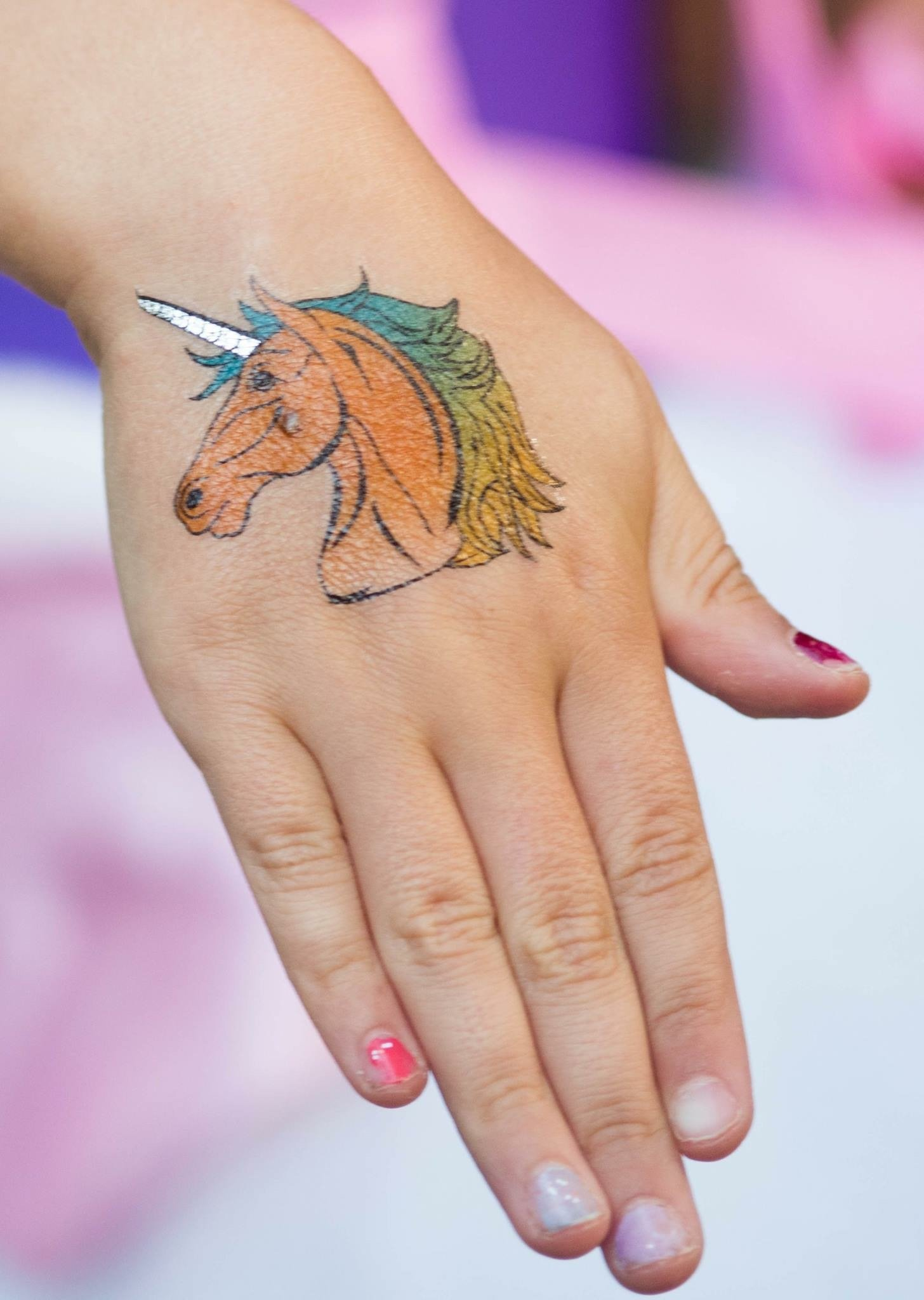Unicorn Temporary Tattoos for Girls Best for Unicorn Party Supplies Party Favors and Unicorn Birthdays Beautiful Metallic Unicorn and Pegasus Tattoos By John & Judy 8