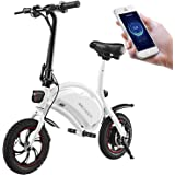 ANCHEER Folding Electric Bicycle E-Bike Scooter 350W Powerful Motor Waterproof Ebike with 12 Mile Range