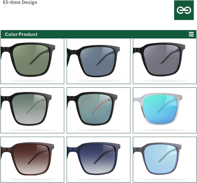 protezione UV 400/% pesca montatura opaca con lenti multicolori guida corsa Eli-time Occhiali da sole polarizzati ultraleggeri da uomo e da donna per il golf