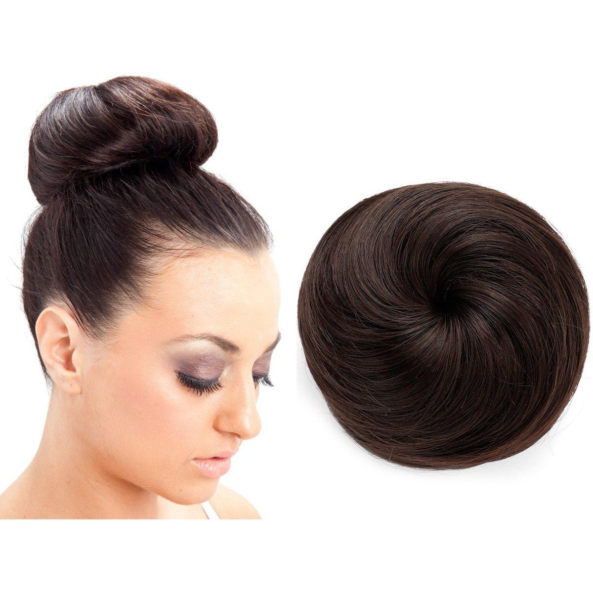Amazon Onedor Synthetic Fiber Hair Extension Chignon Donut Bun