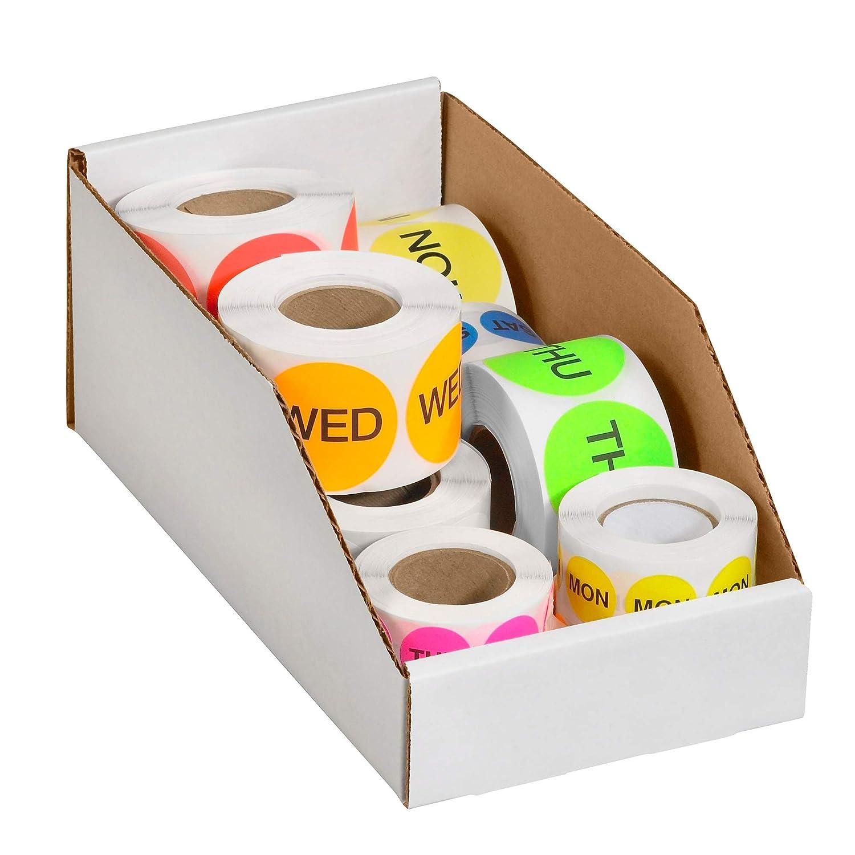 Oyster White 50//Bundle 5 x 18 x 4-1//2 Open Top Bin Boxes