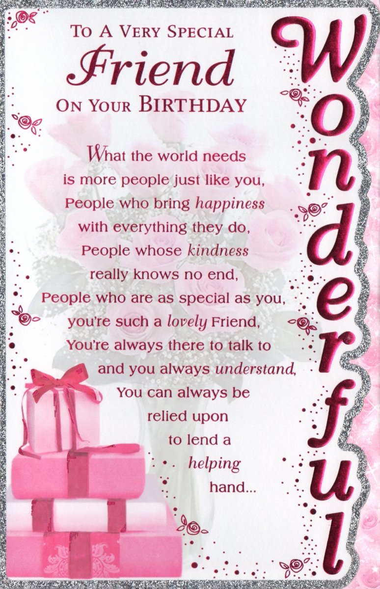 Special Friend Birthday Card To A Very Special Friend On Your