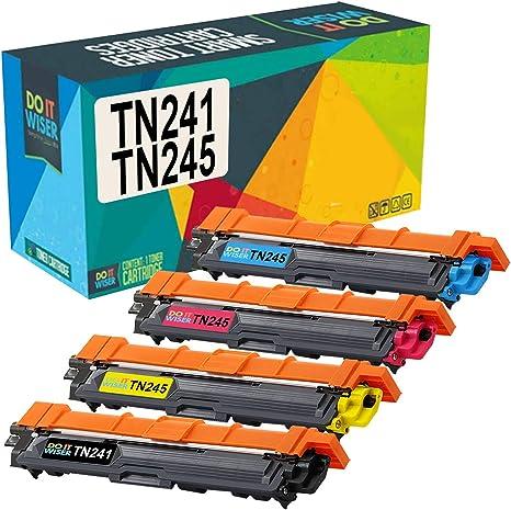 Do it Wiser Cartuchos de Tóner TN241BK TN245 Compatibles para usar ...