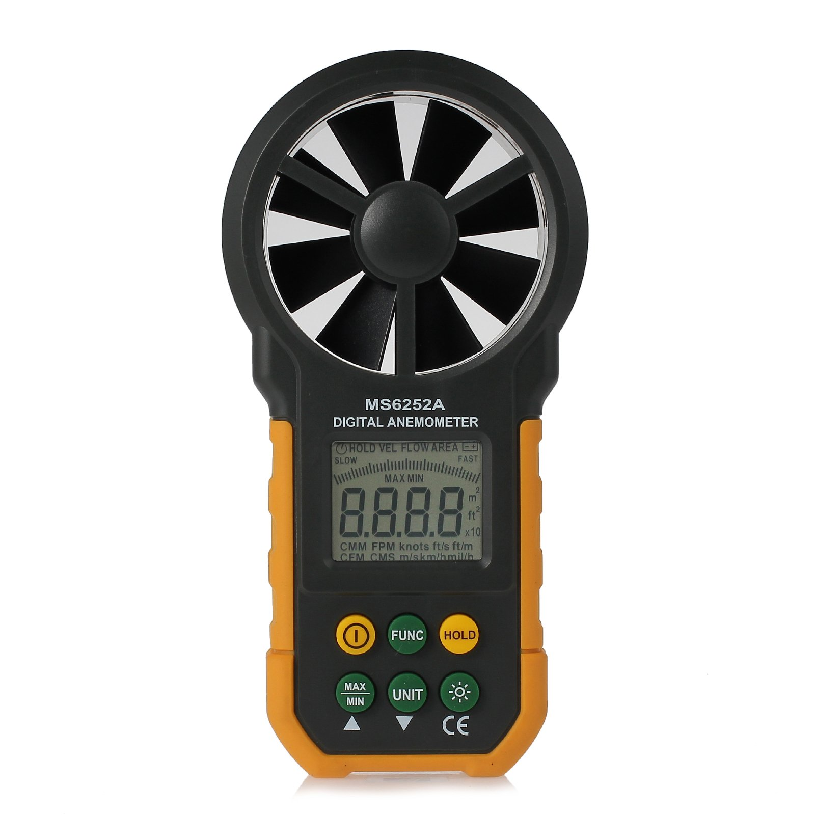 Neoteck 6252A LCD Digital Anemometer Wind Speed Meter Anemometer Air Volume Measure