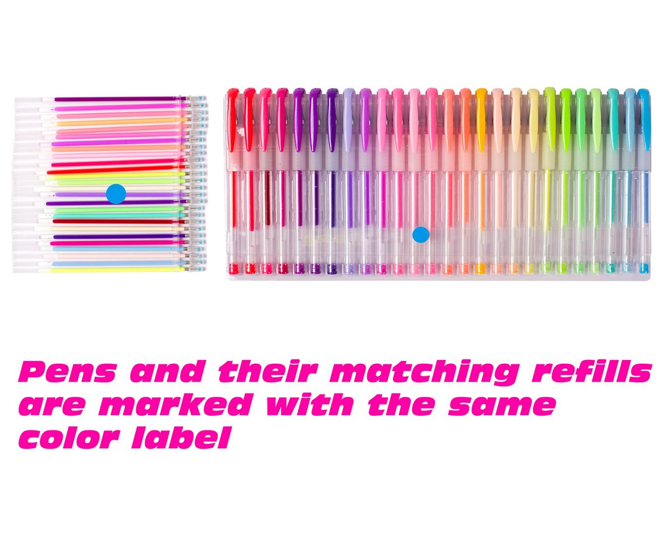 Shuttle Art 260 Colors Gel Pens Set 220% Ink Gel Pen for Adult Coloring Books Art Markers 130 Colored Gel Pens Plus 130 Refills by Shuttle Art (Image #3)