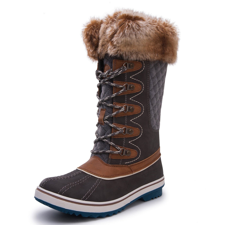 Kingshow Women's Globalwin Waterproof Winter Boots B072Y1CK98 6 B(M) US|1715grey Camel