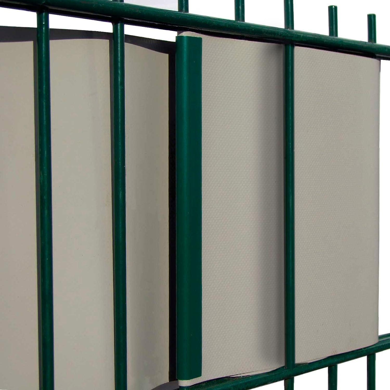 50 Stück PVC Sichtschutzstreifen Klemmschienen – anthrazit