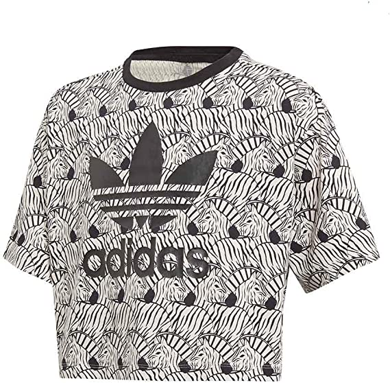 adidas Camiseta Zebra Crop D98913: Amazon.es: Deportes y aire libre