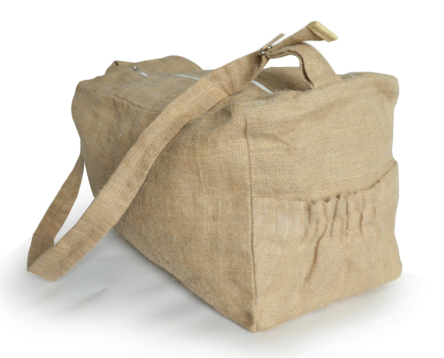 Amore Beaute Handcrafted Natural Burlap Gym Bag Weekend Bag Women Gym Bag Gifts Large_Burlap_gym_bag