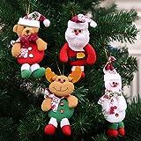 AliPlus Plush Hanging Christmas Tree Ornament (Set of 4)
