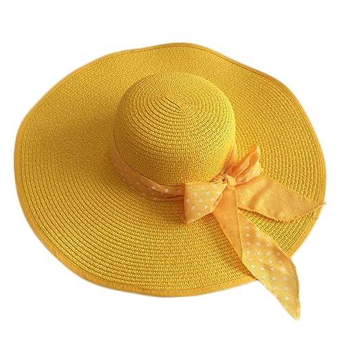 La Sra Sol Sombrero De Ala Ancha Sombrero Para El Sol Sombrero De Playa Plegable Sólido Ribete Dayan...