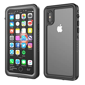 official photos 09d12 1627e iPhone X Waterproof Case, FugouSell Full Sealed IP68 Certified Waterproof  Snowproof Dustproof Shockproof Heavy Duty Protection Underwater Cases with  ...