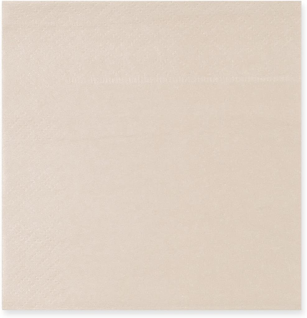 Beige Party Decorations, Paper Napkins (5 x 5 in, 200 Pack)
