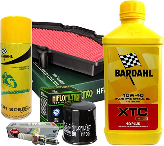 Bardahl Xtc 10w40 Ölfilter Zündkerzen Spray Vulcan Versys 650 Auto