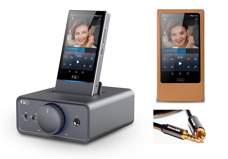 FiiO x7高解像度デジタルオーディオプレーヤーwithレザーケースwith k5ドッキングヘッドホンアンプ/ DAC B01EZOZR6I
