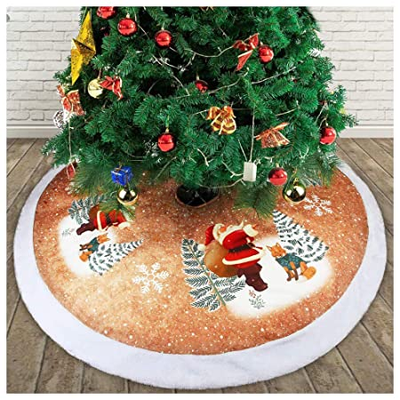 BORNET Decoración Navideña Falda para árbol/Redonda 98cm Papá Noel ...