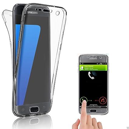 Savfy® - Carcasa para Galaxy S7 Edge Ultra Hybrid - Funda protectora trasera transparente TPU, Carcasa para Samsung Galaxy, S7 Edge 2016