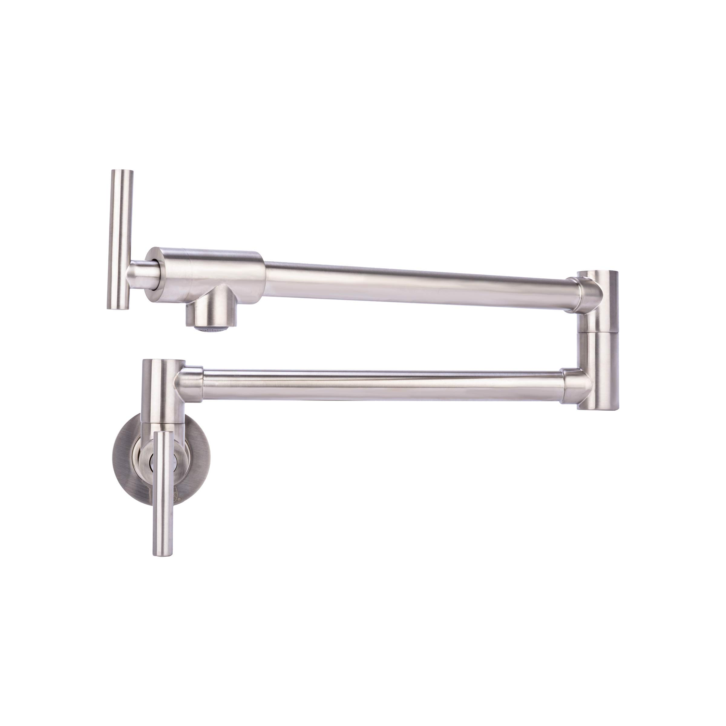 Brienza by Italia, K62202-BN, Contemporary Pot Filler Kitchen Faucet in Brushed Nickel