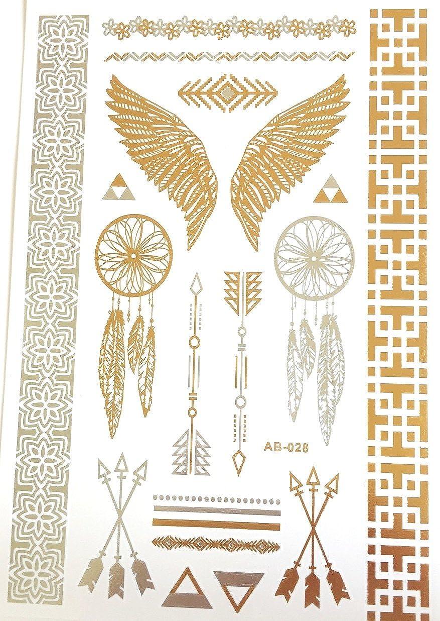 Tatuajes brillantes y lentejuelas, diseño de alas de ángel ...