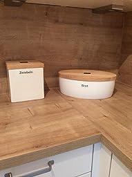 continenta brottopf mit holzdeckel brotkasten oval gr e 36 x 23 x 13 5 cm k che. Black Bedroom Furniture Sets. Home Design Ideas
