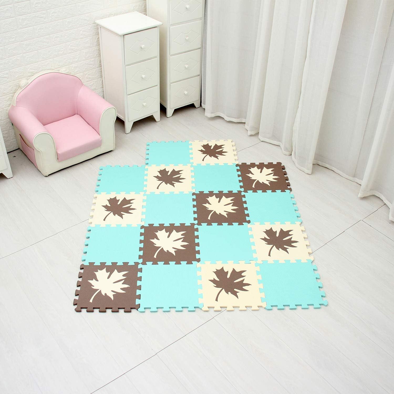 MQIAOHAM babymatten bodenmatte Kinder Matte Play puzzelmatten puzzlematten schadstofffrei spielmatte Teppich MP02701G301018