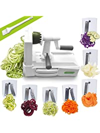 Spiralizer Ultimate 7 Strongest-and-Heaviest Duty Vegetable Slicer Best Veggie Pasta Spaghetti Maker for Keto/Paleo...