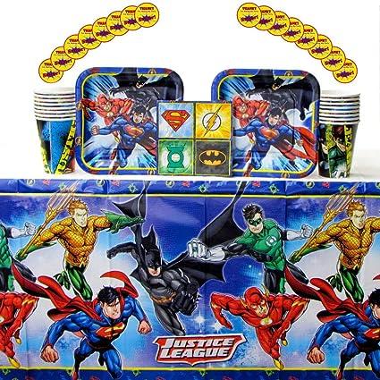 Amazon.com: DC Comics - Pack de 16 servilletas de cumpleaños ...