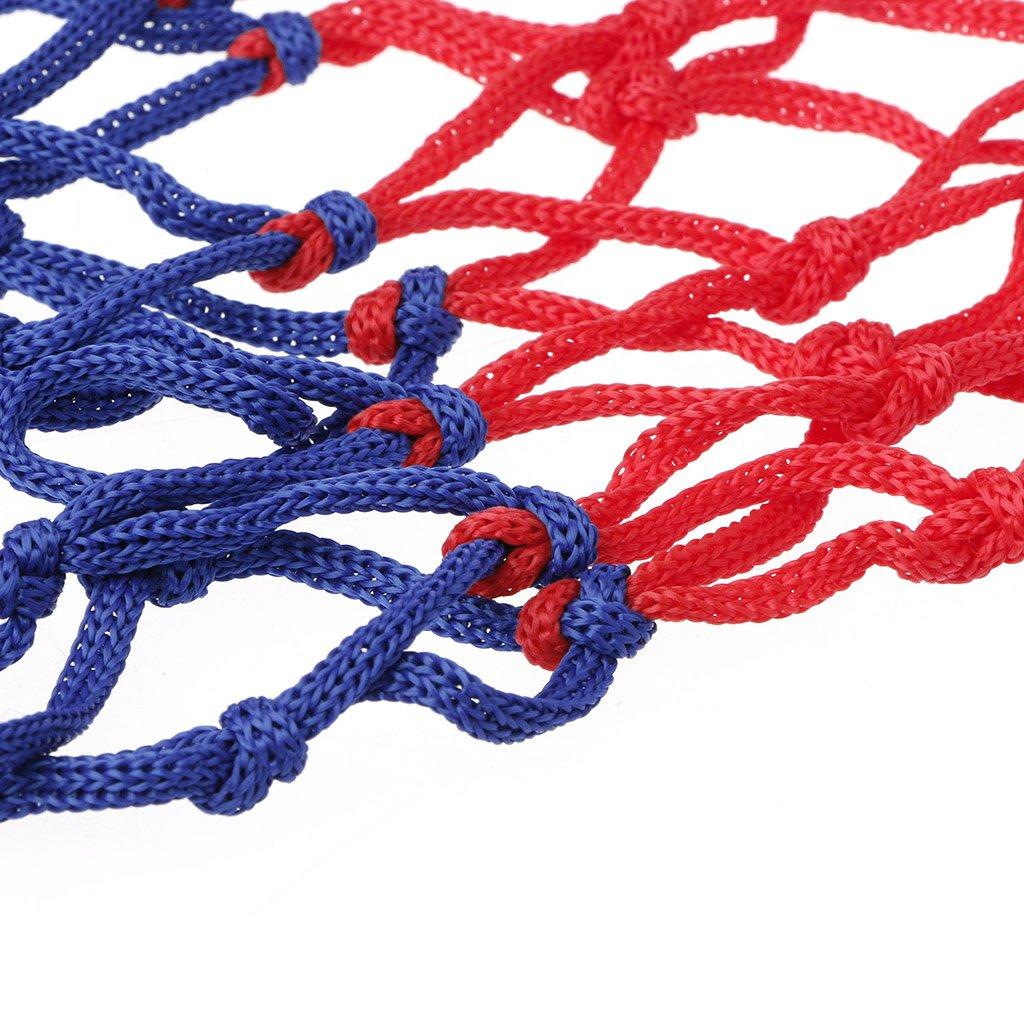Tandou Panier de Basket Rouge Blanc Bleu Durable Nylon Cerceau Standard Universel Int/érieur Ext/érieur Panier de Basket sur Pied