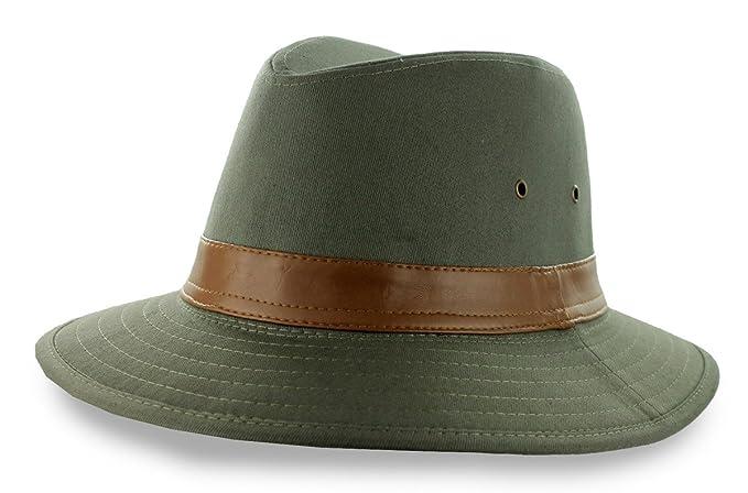 DPC Men s Safari Washed Cotton Hat UPF 50 -Olive-Medium at Amazon ... b3c47496fc1