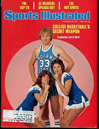 Larry Bird 1977 Sports Illustrated 11/28 1st Cover Indiana State Ex