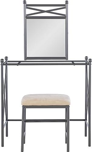 Linon Mission Hills Vanity Set, 31 x 32 x 18 , Metal