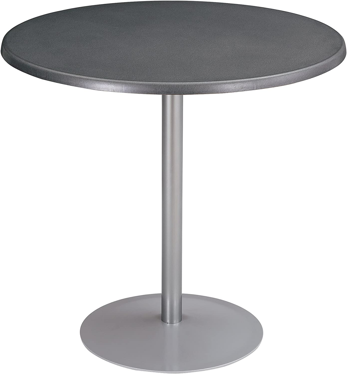 """Safco Products Entourage Table Top, 32"""" Round (Base sold separately), Anthracite"""