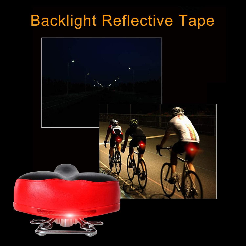Sistema de Espuma de Muelle y Resorte a Prueba de Golpes para Ciclismo Bici de Monta/ña MTB MATT SAGA Sill/ín de Bicicleta Hombres Mujeres Asiento Bicicleta C/ómodo con Reflector