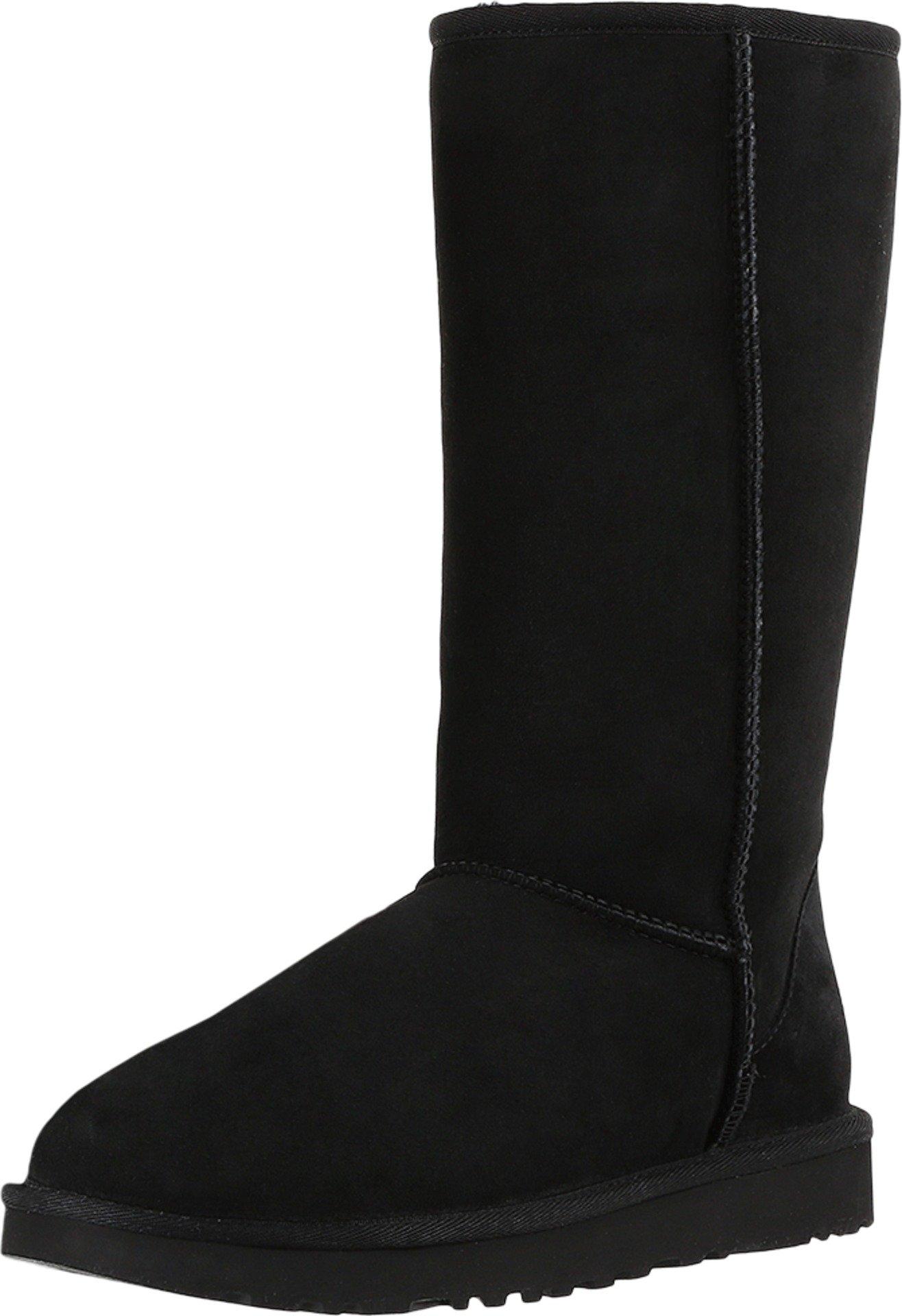 UGG Women's Classic Tall II Winter Boot, Black, 8 B US