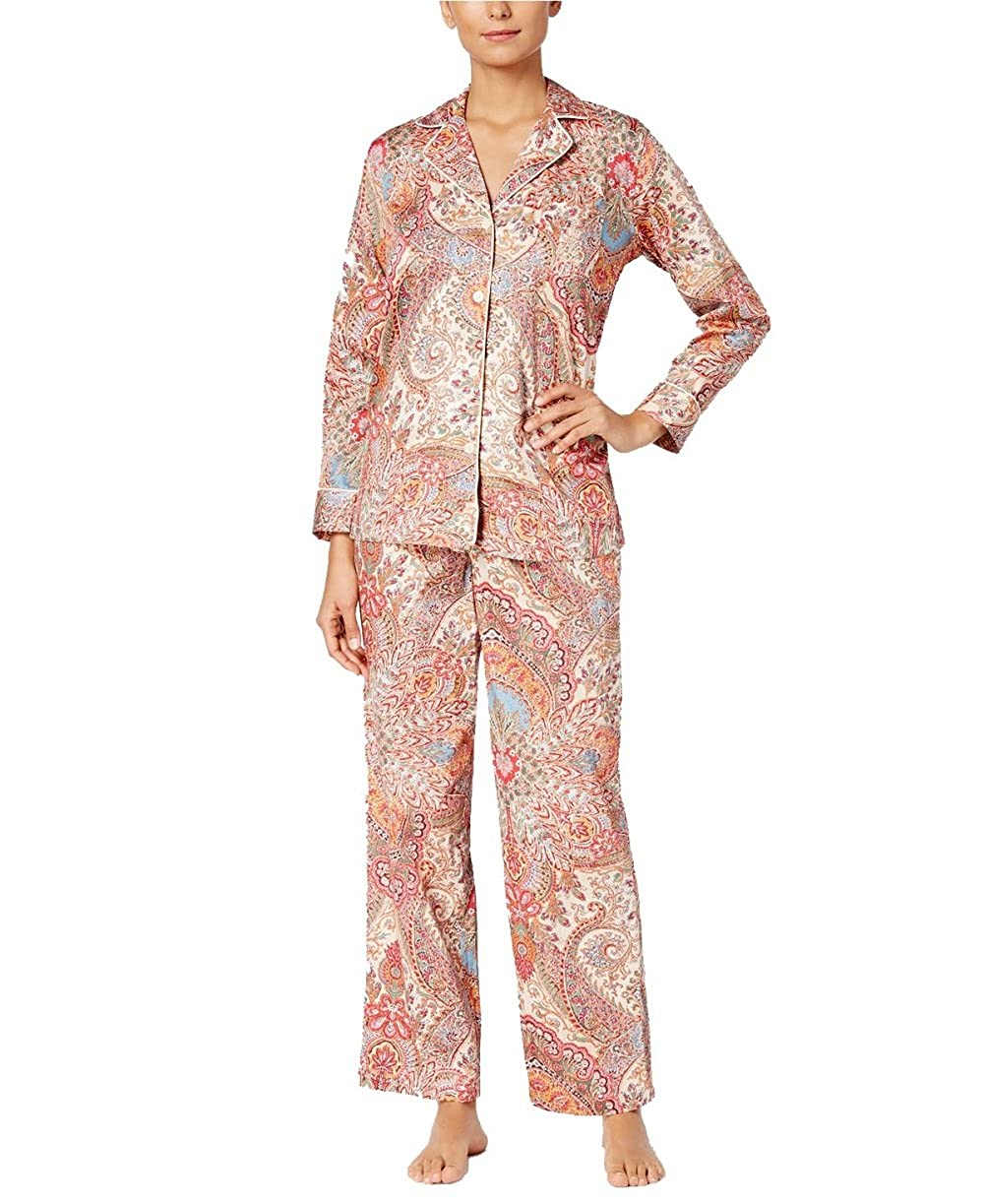 d9448e50e15 Lauren Ralph Lauren Women's Gilded Age Printed Sateen Pajama Set- Med at Amazon  Women's Clothing store: