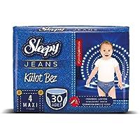 Sleepy Jeans Külot Çocuk Bezi, 4 Beden, Maxi, 30 Adet