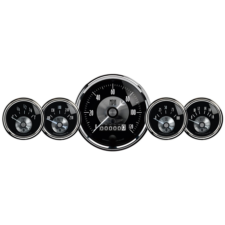 Auto Meter 2003 Prestige Black Diamond Wheel Odometer Gauge - 5 Piece